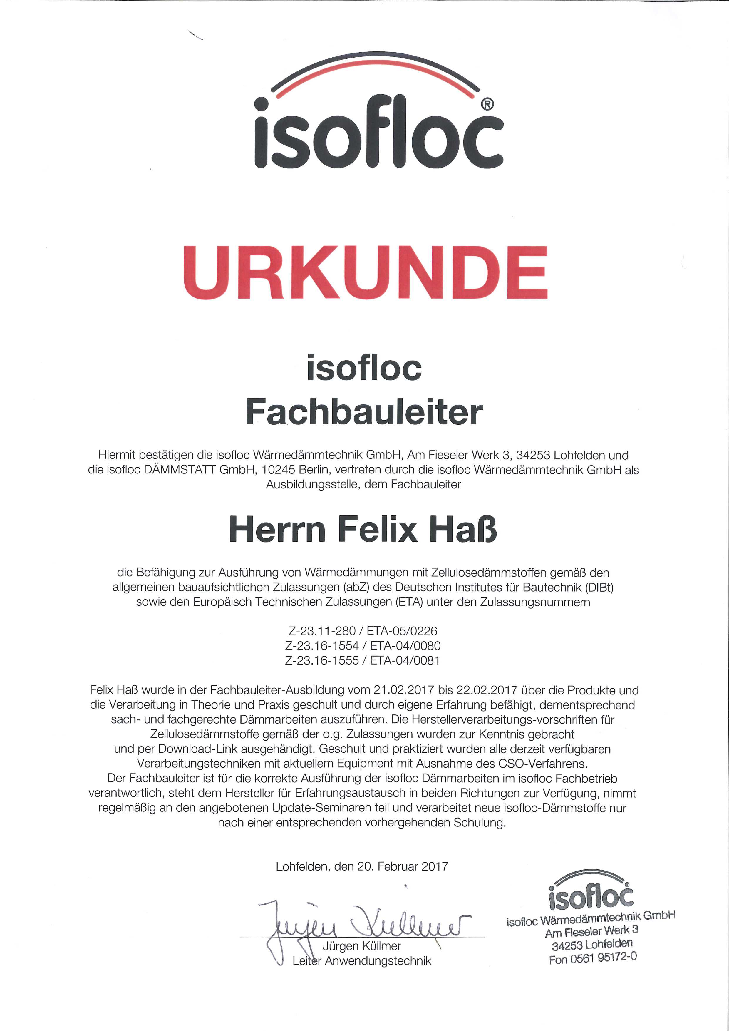 Relativ Zellulose / Weichfaserdämmung: BF Holzbau GmbH ZE89